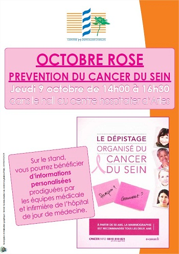 octobre rose prevention du cancer du sein centre hospitalier d 39 arles h pital joseph imbert. Black Bedroom Furniture Sets. Home Design Ideas